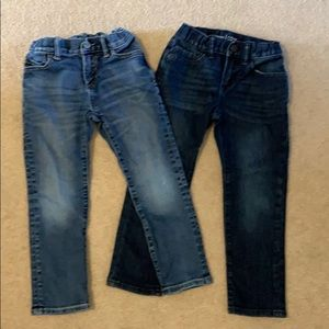 Two pairs of Gap Kids jeans
